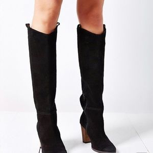 Black Suede Knee High Boots by Dolce Vita